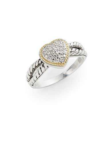 Effy Two-Tone 0.14TCW Diamond Heart Rope Ring-TWO TONE-7