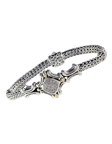 Effy 18k Yellow Gold and Silver Diamond Tennis Bracelet-DIAMOND-One Size