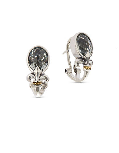 Effy 18K Yellow Gold Green Amethyst Fleur de Lys Earrings-GREEN-One Size