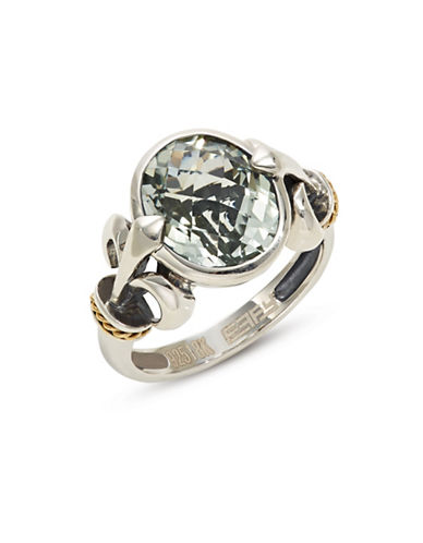 Effy Green Amethyst, Sterling Silver and 18K Yellow Gold Ring-GREEN-7