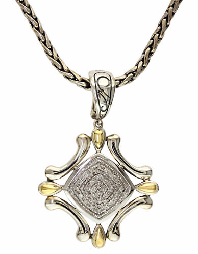Effy 18k Yellow Gold and Silver Diamond Pendant-DIAMOND-One Size