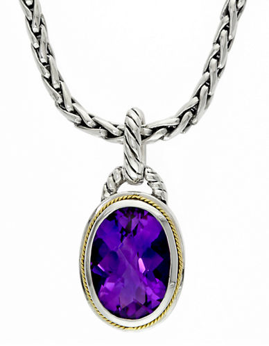 Effy 18K Yellow  Two Tone Amethyst Pendant-AMETHYST-One Size