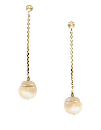 Effy 14k Yellow Gold Fresh Water Earrings-RHODOLITE-One Size