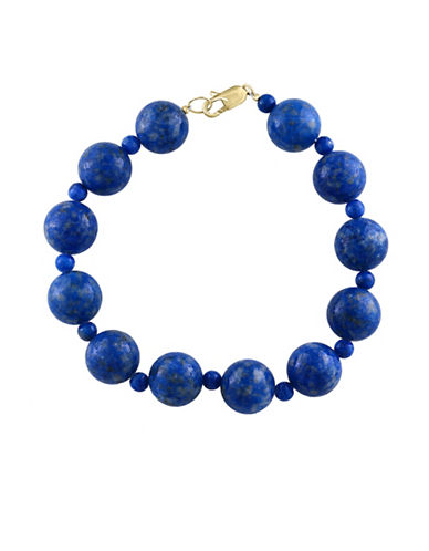 Effy 14K Yellow Gold Lapis Lazuli Bracelet-LAPIS-One Size