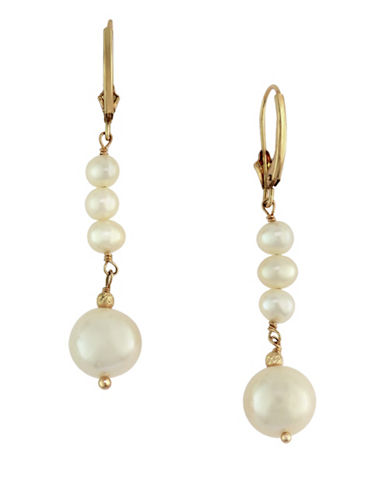 Effy 14K Yellow Gold Freshwater 10mm Pearl Earrings-PEARL-One Size