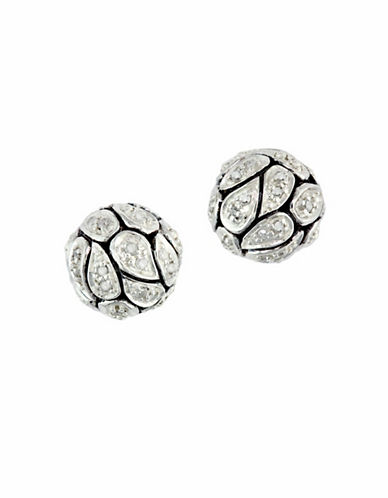 Effy Sterling Silver Diamond Earrings-DIAMOND-One Size