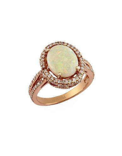 Effy 14K Rose Gold Diamond and Opal Ring-MULTI COLOURED-7