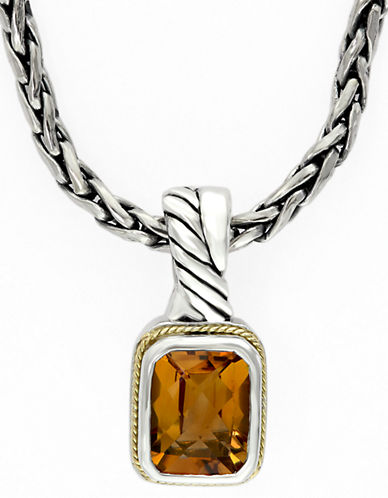 Effy 18k Yellow Gold and Silver Citrine Pendant-CITRINE-One Size