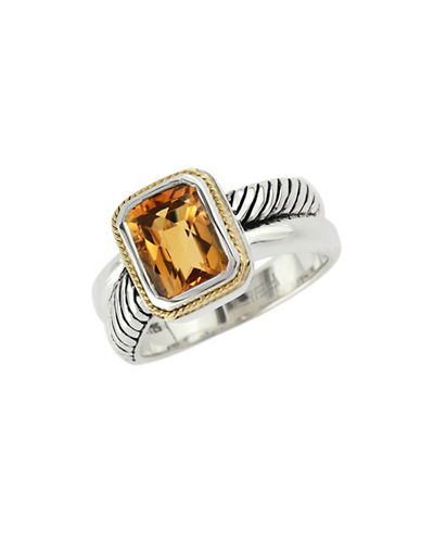 Effy 18k Yellow Gold and Silver Citrine Ring-CITRINE-7
