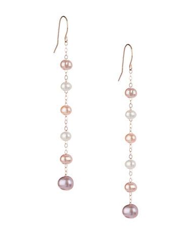 Effy 14K Yellow Gold Freshwater Pearl Drop Earrings-BEIGE-One Size