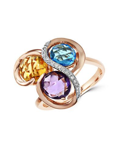 Effy 14K Rose Gold Diamond and Multicolour Swirl Ring-MULTI-7