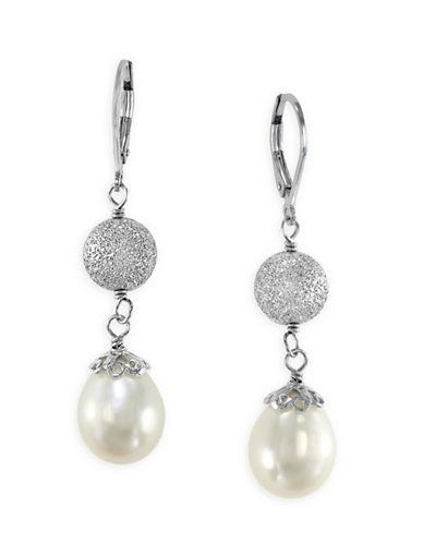 Effy Sterling Silver Freshwater Pearl Drop Earrings-PEARL-One Size