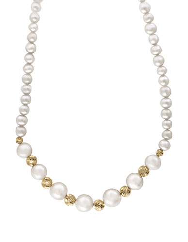 Effy Yellow Gold and Cultured Freshwater Pearl Necklace-PEARL-One Size