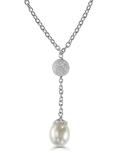 Effy Sterling Silver Freshwater Pearl Drop Necklace-PEARL-One Size