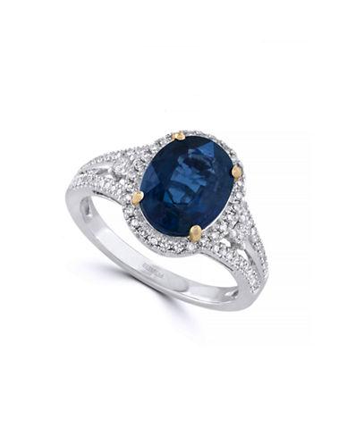 Effy 14K White Gold Diamond Kyanite Ring-TEAL-7