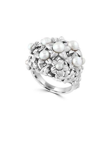 Effy 925 Sterling Silver Fresh Water Pearl Ring-WHITE-7