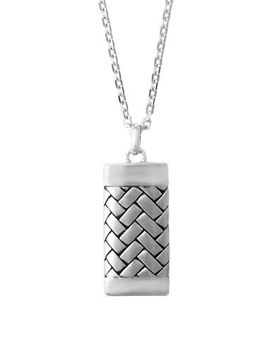 Effy Mens Sterling Silver Bricklayer Pendant-SILVER-One Size