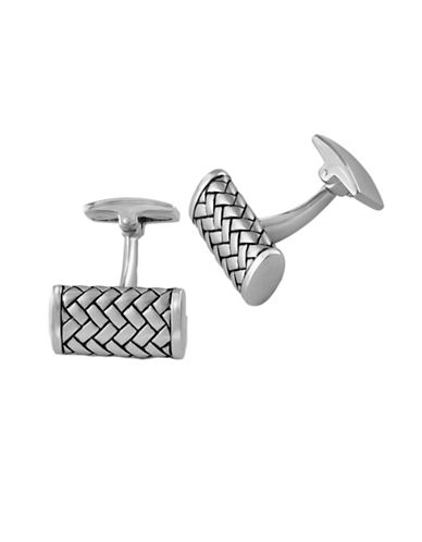 Effy Mens Woven Texture Sterling Silver Cuff Links-SILVER-One Size