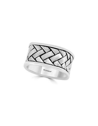 Effy Sterling Silver Braided Band Ring-GREY-7