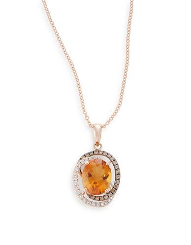 Effy 14K Rose Gold Citrine Pendant Necklace-CITRINE-One Size
