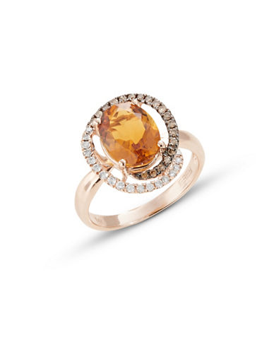 Effy 14K Rose Gold Citrine and Diamond Ring-ORANGE-7