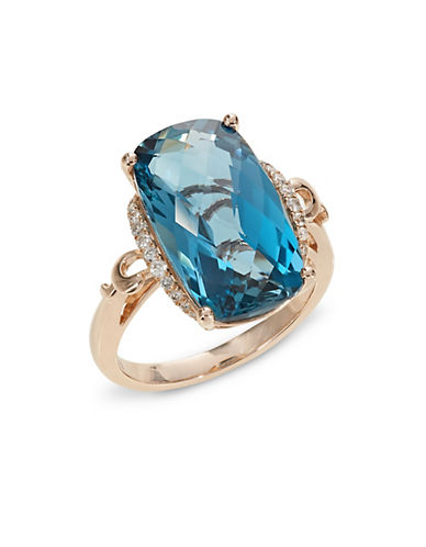 Effy 14K Rose Gold Blue Topaz and Diamond Ring-BLUE TOPAZ-7