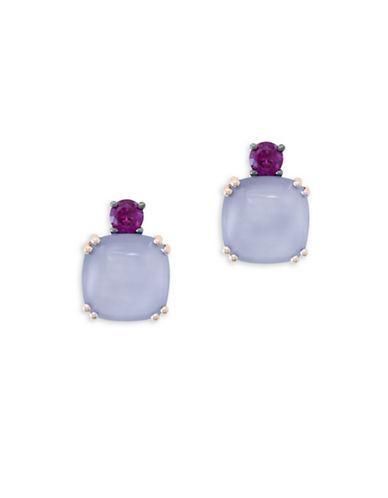 Effy Rhodolite, Quartz Chalcedony, 14K Rose Gold Earrings-ROSE GOLD-One Size