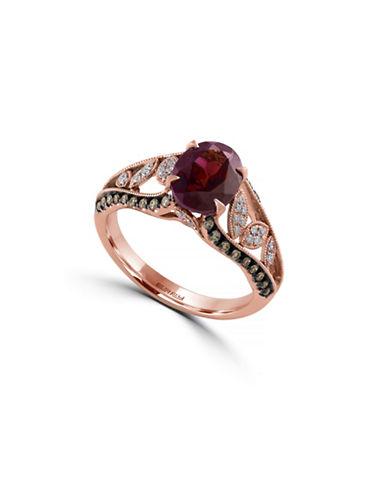 Effy 0.31TCW Diamond and Rhodolite 14K Rose Gold Ring-RHODOLITE-7
