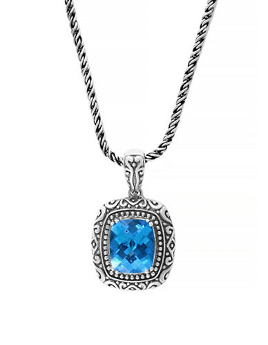 Effy Topaz Sterling Silver Pendant Necklace-BLUE TOPAZ-One Size