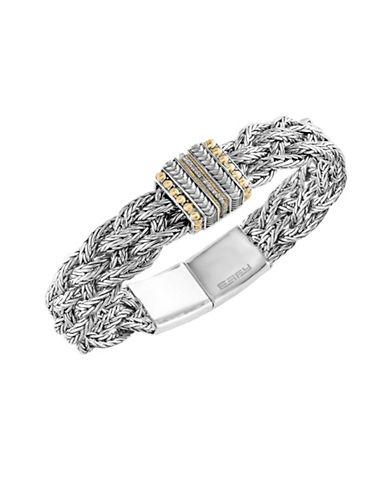 Effy Sterling Silver and 18K Yellow Gold Tennis Bracelet with 0.09 TCW Diamonds-DIAMOND-One Size