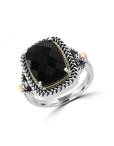 Effy 18K Yellow Gold and Sterling Silver Onyx Ring Box Set-ONYX-7