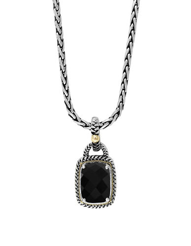 Effy 14K Yellow Gold, Sterling Silver and Onyx Pendant Necklace-ONYX-One Size