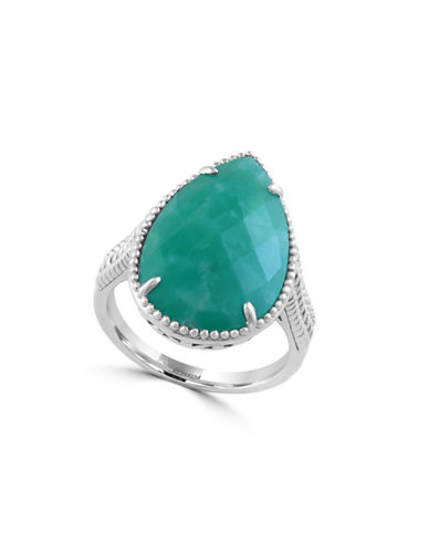 Effy Sterling Silver and Amazonite Ring-GREEN-7
