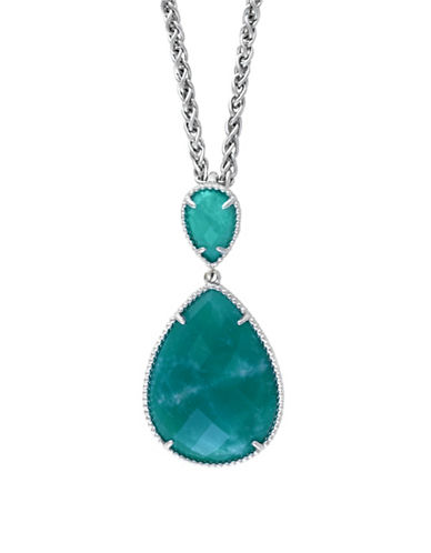 Effy Sterling Silver Amazonite Pendant Necklace-GREEN-One Size