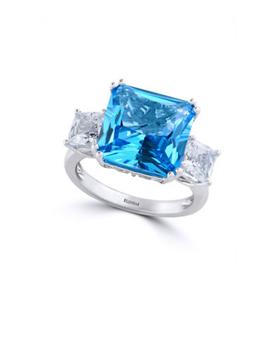 Effy Blue Topaz and White Topaz with 14K White Gold Ring-BLUE TOPAZ-7