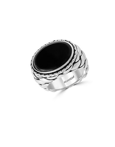 Effy Mens 925 Sterling Silver Ring-ONYX-10