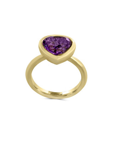 Effy EFFY 14K Yellow Gold and Amethyst Ring-PURPLE-7