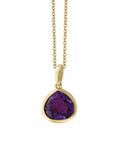 Effy Yellow Gold Amethyst Pendant Necklace-PURPLE-One Size