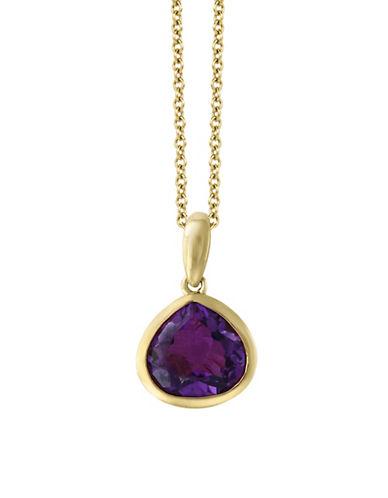 Effy Yellow Gold Amethyst Pendant Necklace-PURPLE-One Size