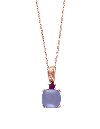 Effy 0.07 TCW TCW Diamond, 14K Rose Gold Square Pendant Necklace-GREY-One Size