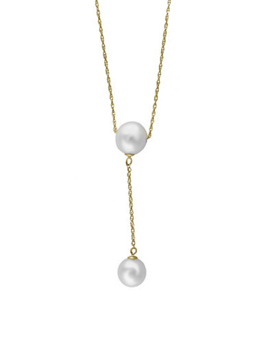 Effy 8MM, 9MM Freshwater Pearl 14K Gold Y-Necklace-WHITE-One Size