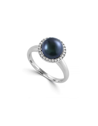 Effy 14K White Gold Ring with Freshwater 8.5MM Pearl and 0.13 Total Carat Weight Diamonds-PEARL-7