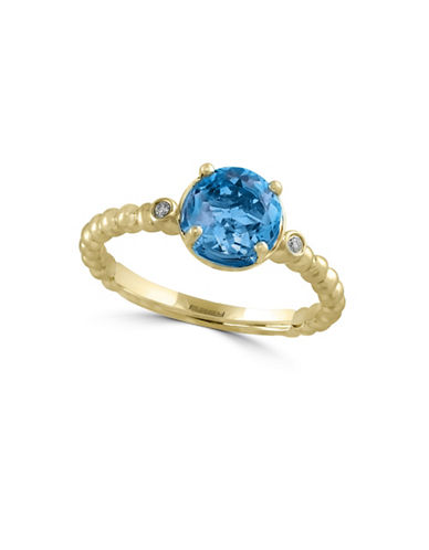 Effy 14K Yellow Gold Ring with Blue Topaz and 0.02 TCW Diamonds-BLUE TOPAZ-7