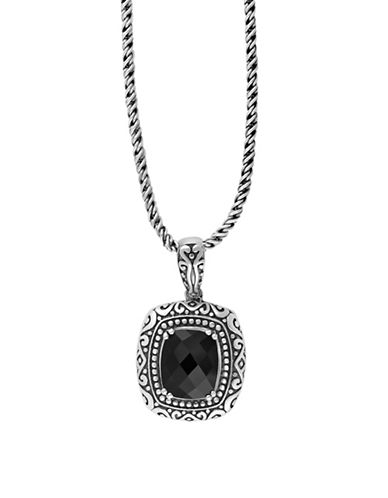 Effy Sterling Silver and Onyx Pendant Necklace-ONYX-One Size