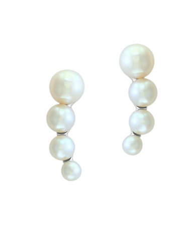 Effy 3-5.5MM Cultured Freshwater Pearl And Sterling Silver Earrings-WHITE-One Size