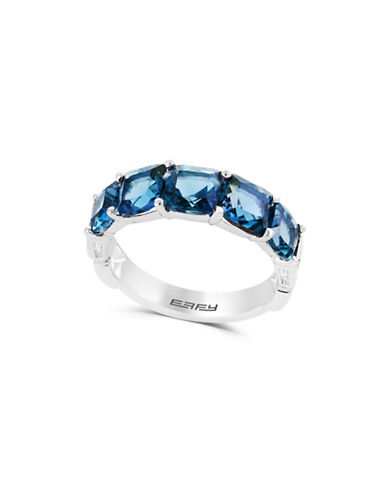 Effy London Blue Topaz 14k White Gold Ring-BLUE-7