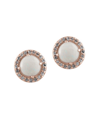 Effy 14K Rose Gold and Opal Earrings with 1.4 Total Carat Weight Diamonds-OPAL-One Size