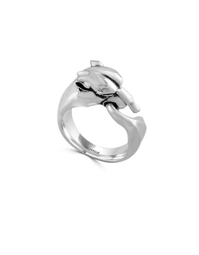 Effy Mens Sterling Silver Panther Ring-SILVER-10.5