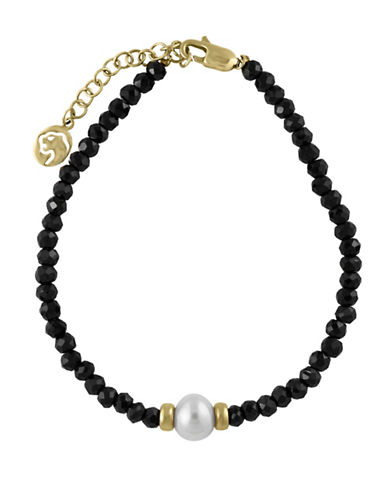 Effy 8MM Fresh Water Pearl and 14K Yellow Gold Bracelet-WHITE-One Size