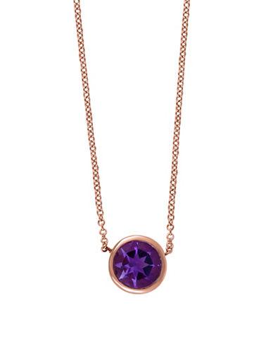 Effy 14K Rose Gold 0.75 TCW Amethyst Necklace-AMETHYST-One Size